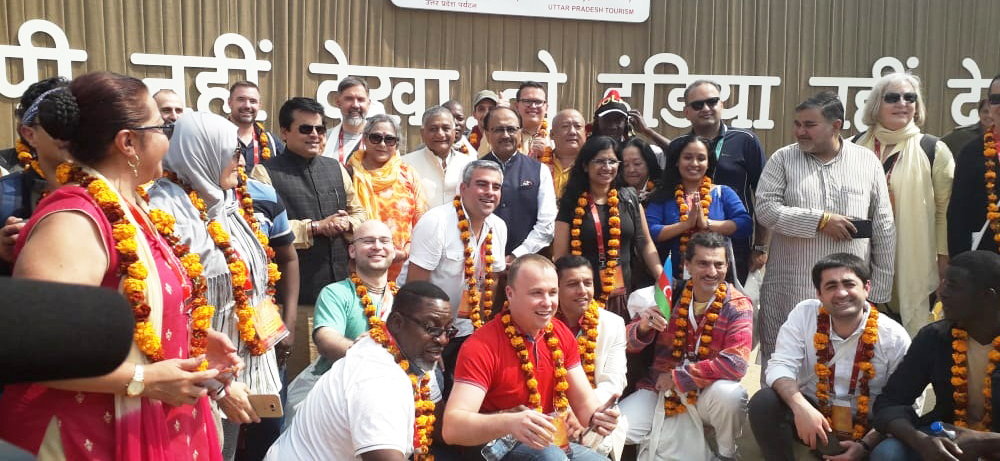 Foreign Delegates Welcomed at Kumbh